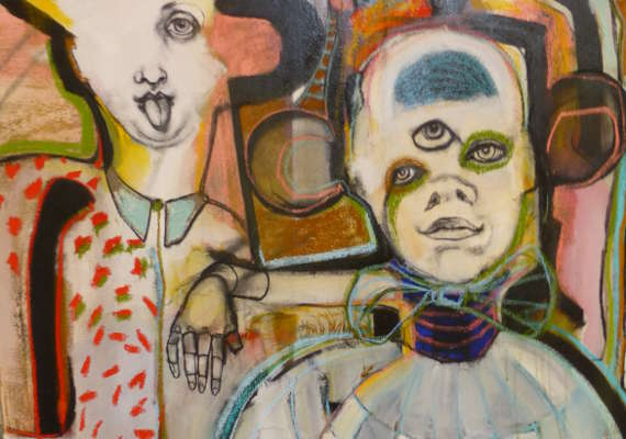 Oil and pastel on canvas, 90 x 120cm, ©2015